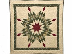 Lone Star Quilt -- exquisite skillfully made Amish Quilts from Lancaster (wh5604)