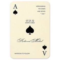 Monte Carlo Save the Date Card