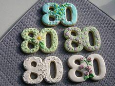 Custom-Designed Number Cookies