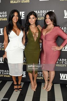Carla Facciolo, Marissa Jade and Karen Gravano attend The Season 6 Premiere of Marriage Boot Camp Reality Stars at Up & Down on September 22, 2016 in New York City. Mafia Wives, Mob Wives, Classy Outfits, Sexy Outfits, Carla Facciolo, Marissa Jade, Marriage Boot Camp, Peplum Dress, Bodycon Dress