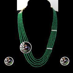 Peacock Broche Necklace Set - http://www.zaarif.com/peacock-broche-necklace-set-2