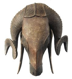 Paris Musée Dapper - Arts Africains Ram mask from the Ivory Coast of Africa.