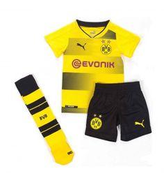 Dortmund Hemmaställ Barn 17-18 Kortärmad 18th, Trunks, Swimming, Sweatpants, Swimwear, Kids, Fashion, Borussia Dortmund, Drift Wood