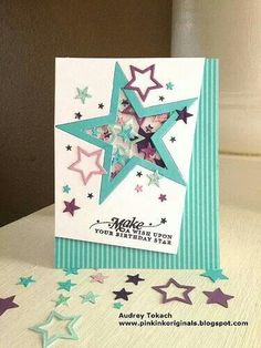 Stars shaker birthday card