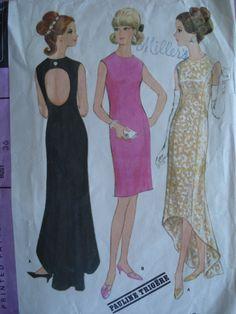 McCall's New York Designer's Collection 8493 ©1966 Pauline Trigère dress