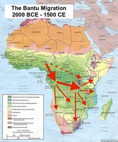 The migration of the Bantu people from their origins in southern West Africa saw a gradual population movement sweep through the central, eastern, and southern. African Tribes, African Diaspora, Africa Map, East Africa, African History, African Empires, Social Studies Worksheets, What Is Today, Great Lakes Region