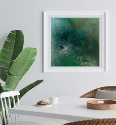 Emerald Dreams | Mariëtte Kotzé | Green Abstract | Giclée Print | Limited edition of 10 Colorful Clouds, Ink Wash, White Ink, Macro Photography, Giclee Print, Emerald, Plant Leaves, Fine Art Prints, Dreams