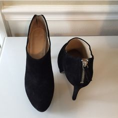Nine West Black Booties Chic and classic black suede booties. Worn gently, minimal wear, great condition. Nine West Shoes Ankle Boots & Booties