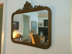 Gorgeous Antique Mirror Gold Gesso Hollywood by HitherAndYonEstate