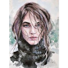 #watercolor #portrait #акварель