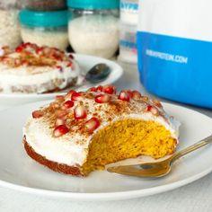 Fitness dýňová buchtička - recept Bajola Healthy Baking, Healthy Snacks, Diet Recipes, Healthy Recipes, Baked Goods, Banana Bread, Deserts, Food And Drink, Sweets