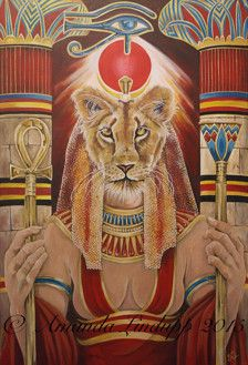 A3 Goddess Sekhmet Print  Original painting by Amanda Lindupp of Sacredpathart 2015. Acrylic on canvas.  Printed on 350 grams high quality silk card, signed on the back by the artist. Print size A3, 11.5 x 16.5 inches.  Print posted flat. First class tracking.  © does not appear on the actual print.  Thank you for looking.