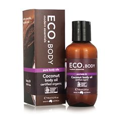 ECO. Body Coconut Body Oil Certified Organic, 95ml (3.2 oz) review – My Cellulite House