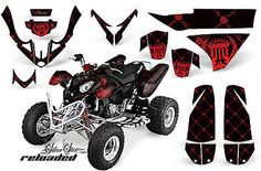 NEW AMR RACING QUAD ATV GRAPHICS STICKER KIT POLARIS PREDATOR 500 PARTS