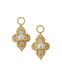 18k Provence Flower Earring Charms, GOLD - JudeFrances Jewelry