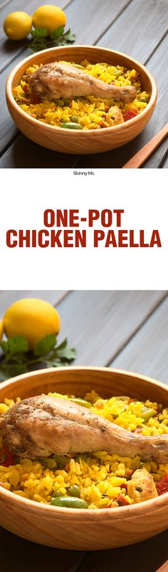 This is an amazing Spanish dish that costs a lot of money in a restaurant--learn to make it yourself with this simple One-Pot Chicken Paella Recipe!
