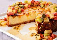 Cheesecake de frutas tropicais
