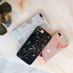 cute glitter marble foil soft silicone Crossbody strap phone case for iphone XS MAX case for iphone XR X 6 7 8 plus cas Outfit Accessories From Touchy Style. Cases Iphone 6, Pink Phone Cases, Glitter Phone Cases, Pink Iphone, White Iphone, Cute Phone Cases, Phone Covers, Tablet Cases, Marble Iphone Case