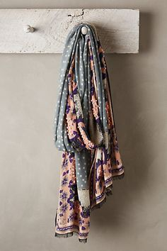 How you could do polka dots - with this really cool moroccan tile feeling trim! Athenia Scarf - anthropologie.eu
