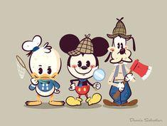 Lil Bffs: Lonesome Ghosts by Dennis Salvatier Kawaii Disney, Disney Babys, Baby Disney, Disney Love, Disney Kunst, Arte Disney, Cool Cartoons, Disney Cartoons, Mickey Mouse Kunst