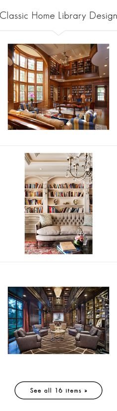 Classic Home Library Design #Home_Library #Reading_Nooks #Books #Book_Lover #Interior_Design