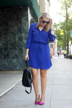 Kate from Oh My Heart is wearing the Alessia Dress by Tatiana & Natouchi, available at onzeshop.com! Cute look!