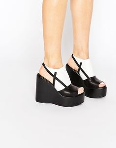 Image 1 of Truffle Collection Calla Platform Wedge Sandals