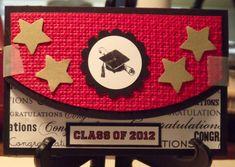 Graduation Money Holder by palmerbv - Cards and Paper Crafts at Splitcoaststampers Graduation Gifts For Boys, Graduation Cards, Graduation Ideas, Z Cards, Stampin Up Cards, Greeting Cards, Gift Cards Money, Christmas Gift Card Holders, Congratulations Card