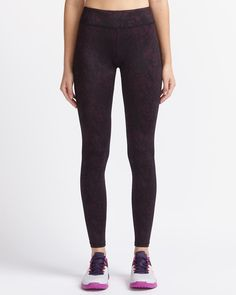 Legging supersonique à imprimé Hyba Leggings, Sport, Black Jeans, Running, Workout, Baby, Pants, Clothes, Fashion
