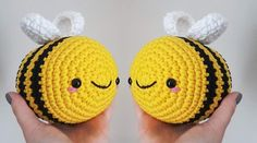 This Easy Amigurumi Bumblebee Bert Ia Another Simple Amigurumi Project, Which Is Sure To Bring Much Fun And Many Smiles. Crochet Bee, Easter Crochet, Chunky Crochet, Cute Crochet, Crochet Amigurumi Free Patterns, Crochet Animal Patterns, Crochet Toys Patterns, Bee Crafts, Yarn Crafts