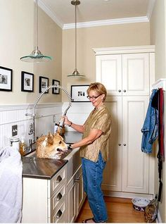 On our wish list: a separate mud room with an extra deep sink basin for bathing doggies.