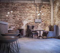 Old shipyard industrial cafe on Behance