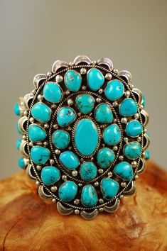 Cuff | Will Denetdale (Navajo).  Sterling silver and Natural Morenci Turquoise.