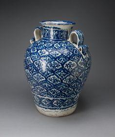 Talavera poblana Puebla, Mexico  Vase, 1700/50  Tin-glazed earthenware