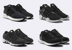 The updated adidas EQT line is back with the help of Boost and premium Milled Leather. The Black/White options release April 28th, 2017. Details here: