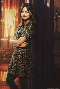 "Clara in Doctor Who series 8 ""Deep Breath."""