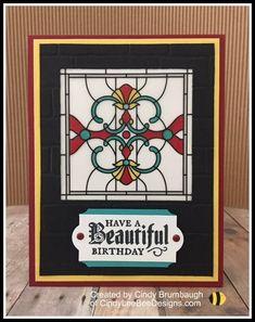 SU Graceful Glass Vellum with Painted Glass Sneak Peek   Cindy Lee Bee Designs