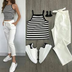 Latest Photographs Womens fashion college Tips, Girls Fashion Clothes, Teen Fashion Outfits, Fashion Pants, Womens Fashion, Trendy Fashion, Fashion Tips, Cute Casual Outfits, Simple Outfits, Chic Outfits
