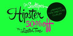 Hipster Script Pro - Webfont & Desktop font « MyFonts     (which apparently requires you to use really loud color combinations)