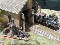 Pudding River Lumber Company Engine House On30 Modular layout by Kevin Spady