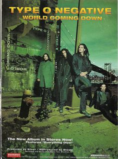1999 Type O Negative World Coming Down Ad