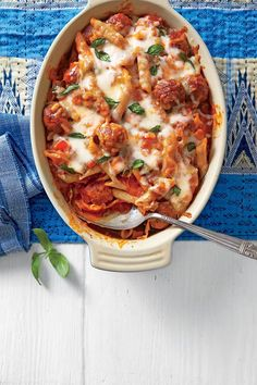 Meatball Pasta Bake | Beckon your family to the table with the promise of piping-hot, delightfully casual casserole combinations of ground beef with noodles, cheese, and colorful vegetables. Need to put a hearty dinner on the table, but don't have a lot of time to fuss? We're here for you. But more importantly, so is ground beef. We've collected some of our favorite, easy ground beef casseroles that will make weeknight meals a delicious breeze. We're always looking for new hamburger ca...