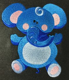 Blue Elephant by MayzMarket on Etsy