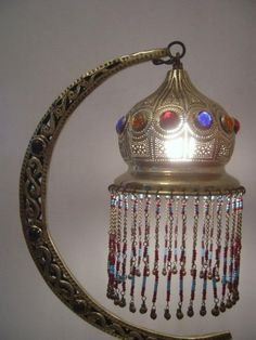 Half Moon Moroccan Lamp | Beaded Table Lamp | Moroccan Lantern450 x 600 | 36.5KB | www.ekenoz.com