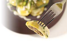 Home Hardware - Mushroom Ravioli with Asparagus & Tarragon Pasta Recipes, Pasta Meals, Cooking Recipes, Mushroom Ravioli, Yummy Treats, Yummy Food, Special Recipes, Winter Food, Allrecipes