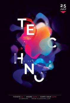 Techno Flyer Template (Buy PSD file $9)