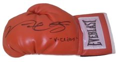 Victor Ortiz Autographed Everlast Red Boxing Glove w/ Inscription, Proof Photo