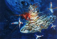 August is officially John Berkey month here at conceptships. Yesterday was our 6 year anniversary so I thought an extensive John Berkey po. Arte Sci Fi, John John, Norman Rockwell, King Kong, Concept Ships, Concept Art, Star Trek, John Berkey, Sci Fi Genre