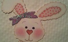 Baby Girl Rabbit Paper Piece - Easter Scrapbook Decor