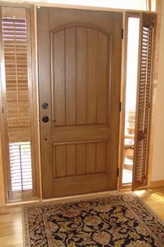Yes! You can put shutter on sidelights!! Shutters from Budget Blinds - Window Treatments - Other Metro - Budget Blinds of the Crow River Area #budgetblinds